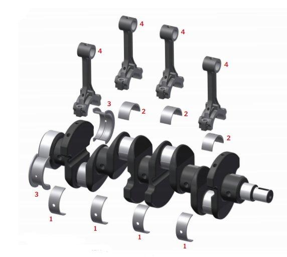 40 ford engine diagram crankshaft thrust engine bearings - conrod, mains, thrust washers, bushes 2 3 liter ford engine diagram wiring schematic #10